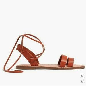 Madewell Leather Sandals with Ankle Ties